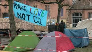 Basler Klima-Streiker trotzen dem Wetter