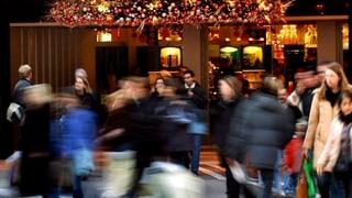 Aargauer strömten über die Kantonsgrenze zum Weihnachtsshopping