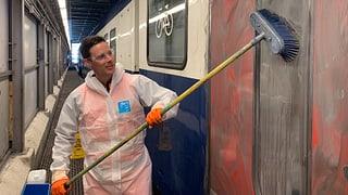 Graffiti am Zug: So teuer bezahlen ÖV-Reisende die Reinigung (Artikel enthält Audio)