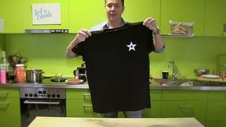 T-Shirt zusammenlegen mit einem Griff