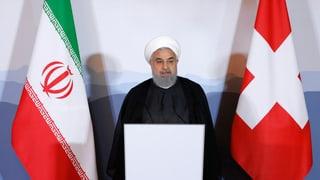 Il president iranais Rohani en visita en Svizra