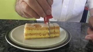 Keine «Sauerei» mit dem Crèmeschnitten-Schneider
