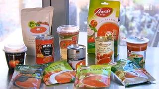 Tomatensuppe: Büchsen gegen Beutel