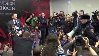Eklat bei Medienkonferenz in Moskau