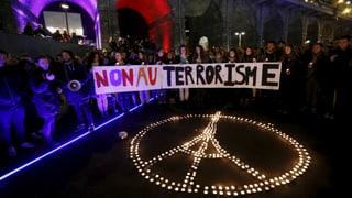 Schweizer zeigen Solidarität mit Paris