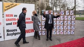65'000 Unterschriften gegen revidiertes Asylgesetz