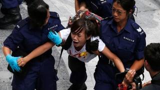 Demonstranten in Hongkong verhaftet