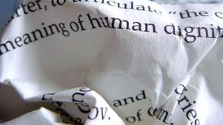 Menschenwürde – mehr als ein schöner Begriff?