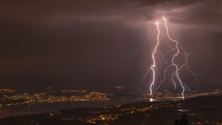 Blitzaktive Gewitter am Samstagabend