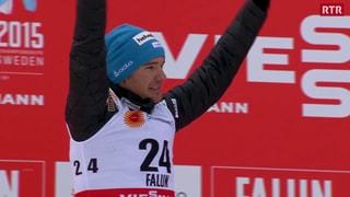 Dario Cologna daventa vicecampiun en il skiatlon