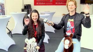 Pferde und Würste: Pirmin von «Brig TV» an der OFFA in St. Gallen