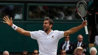 Federer e Cilic en il final a Wimbledon