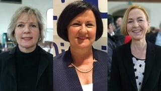 Das Rennen: Drei Frauen für zwei Sitze in der Kantonsregierung