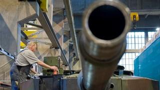 Weniger Schweizer Kriegsmaterial exportiert