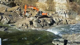 Felssturz in Wolhusen: Aufräumarbeiten dauern weiterhin an