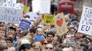 «We love EU» - 40'000 demonstreschan cunter Brexit