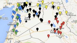 Hier ist die Terrormiliz IS auf dem Vormarsch