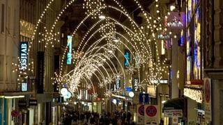 Keine Glühbirnen mehr an Basler Weihnachtsbögen