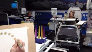 Malen während der Dialyse
