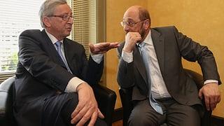 So sehen Juncker und Schulz die Schweiz