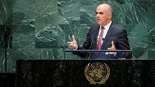 Deutliche Worte von Berset vor der UNO