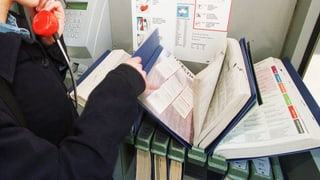 Das Telefonbuch wird immer dünner