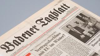 Badener Tagblatt kehrt zurück – auch wegen Zürchern