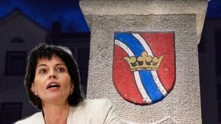 La presidenta da la Confederaziun Doris Leuthard vegn a Glion