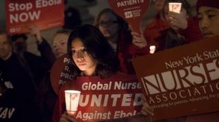 Pflegende in den USA streiken für mehr Schutz vor Ebola