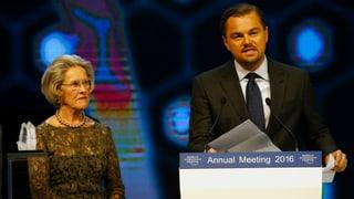 Für Umwelteinsatz: Leonardo DiCaprio am WEF geehrt