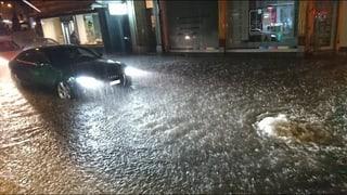 In einigen Regionen sorgte der Starkregen für Überschwemmungen.