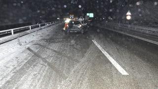 Strasse und Schiene mit Winterproblemen