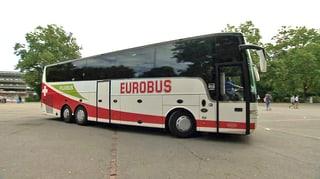 Eurobus: Tiefe Auslastung und Verkehrsbussen