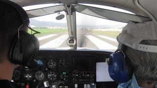 Neustart mit einem Flugschüler auf dem Flugplatz Birrfeld