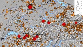 2016 war in der Schweiz ein überdurchschnittliches Erdbebenjahr.