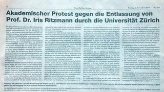 Fall Mörgeli: Inserat für Professorin – trotz Abgang des Rektors