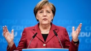 Merkel strebt zügige Gespräche für «stabile Regierung» an