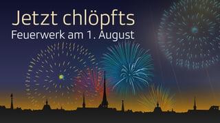 Feuerwerk am 1. August