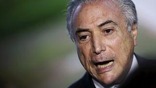 Rousseffs «Verräter» übernimmt Regierungsverantwortung