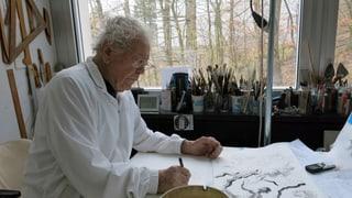 Hans Erni: Auch mit 106 Jahren täglich am Zeichnen