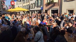 Salut-Bollerschüsse eröffnen erstes Volksmusikfest im Aargau