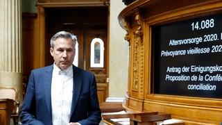 Adrian Amstutz tritt als Chef der SVP-Fraktion im Bundeshaus zurück. Eine gewisse Enttäuschung konnte er bei der Ankündigung nicht verbergen.