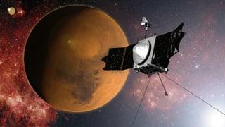 «Maven» kreist nun um den Mars