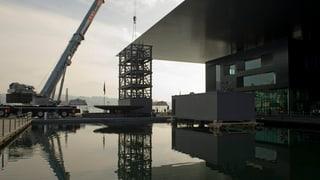 Letzte Bauetappe für KKL-Dach startet