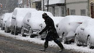 Warnstufe «Rot» nach starken Schneefällen in Grossbritannien
