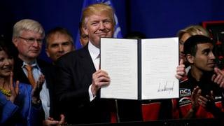 Trump unterzeichnet «Buy American»-Dekret