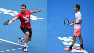 Wawrinka und Federer am Dienstag