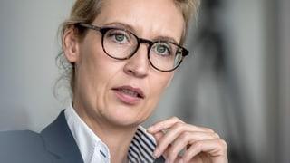 AfD-Frontfrau Weidel schliesst persönliche Konsequenzen aus
