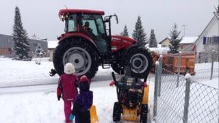 Erster Schnee im Flachland bereitet nicht nur Freude
