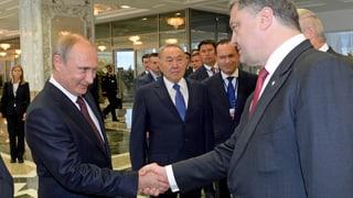 Putin und Poroschenko wollen über Waffenruhe verhandeln